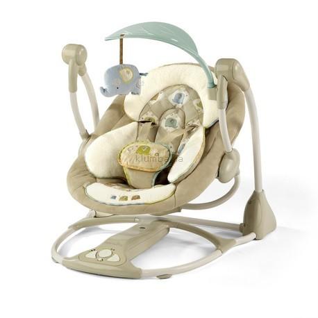 Детское кресло-качеля Bright Starts Ingenuity Smart and Quiet Swing Kashmir Fashion (7036) (Умные и безшумные)