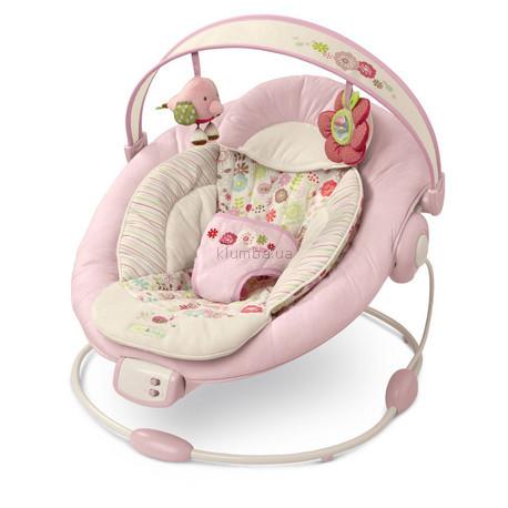 Детское кресло-качеля Bright Starts Comfort & Harmony Cradling Bouncer, Vintage Garden (6926)