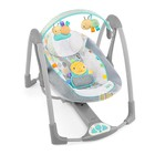Детское кресло-качеля Bright Starts Taggies Swing N Go Portable Swing (60124) (Улитка)