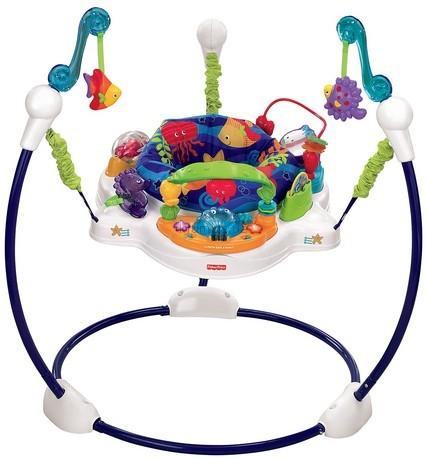 Детское кресло-качеля Fisher Price Кресло-прыгунки Чудеса океана (t2804)