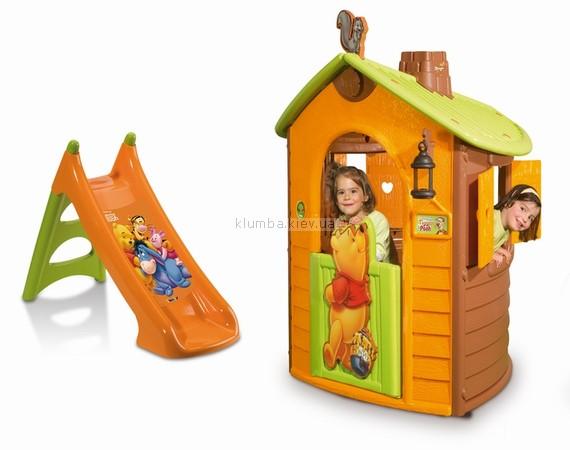 Детская площадка Smoby Домик с горкой из серии Winnie