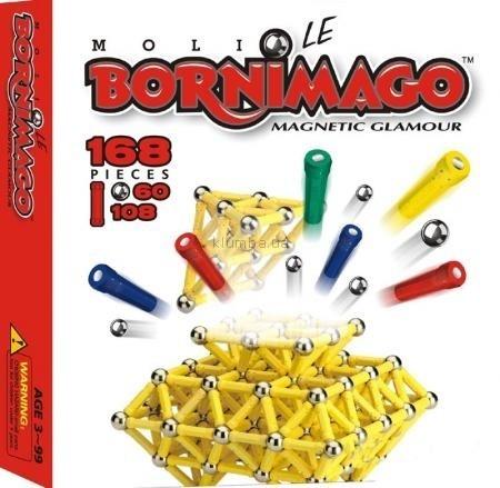 Детская игрушка Bornimago Магнитный конструктор (168 деталей)