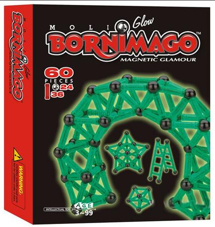 Детская игрушка Bornimago Магнитный конструктор (60 деталей)
