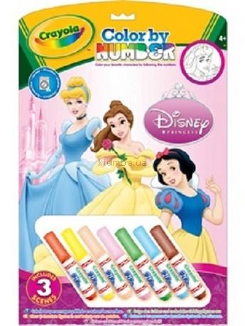 Детская игрушка Crayola Книга-раскраска по номерам с фломастерами Принцессы