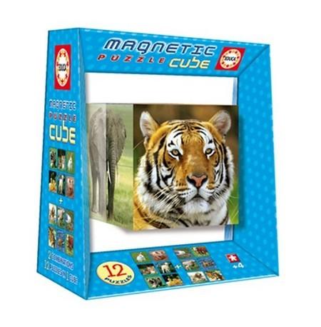 Детская игрушка Educa Магнитный пазл-куб Дикая природа