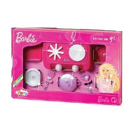 Детская игрушка Faro Набор посуды - Барби Кухня