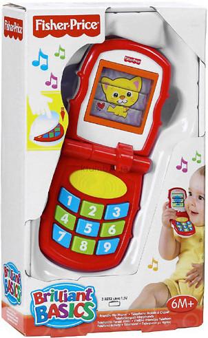Детская игрушка Fisher Price Телефон Блестящие основы