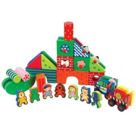 Детская игрушка K's Kids Деревянный конструктор Город Патрик и друзья (kidiwood)