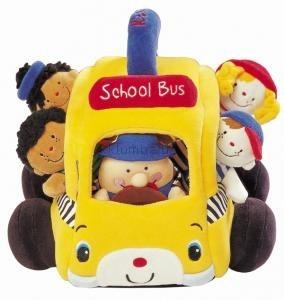 Детская игрушка K's Kids Мягкий школьный автобус с учениками