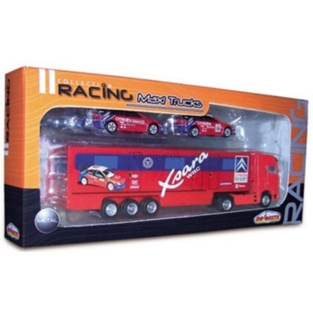 Детская игрушка Majorette Набор Racing из грузовика и 2-х машинок