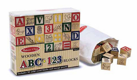 Детская игрушка Melissa&Doug Азбука, Цифры на кубиках