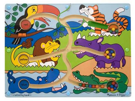 Детская игрушка Melissa&Doug Цветовой магнитный лабиринт