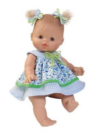 Детская игрушка Paola Reina Европейка малышка в сине-зеленом