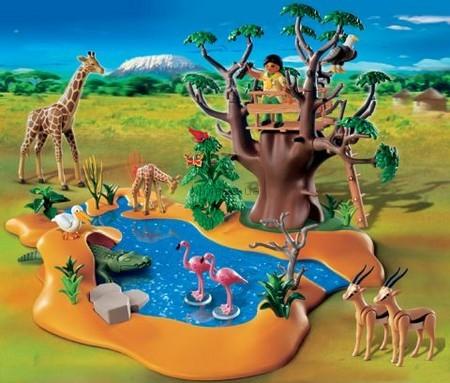 Детская игрушка Playmobil Водопад с  дикими животными