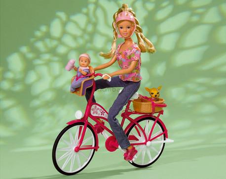 Детская игрушка Steffi Love Штеффи с малышом на велосипее