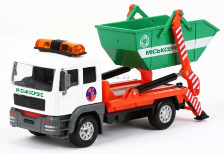 Детская игрушка Технопарк Автомодель Мусоровоз (с подвижным контейнером)