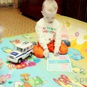 Теплый развивающий коврик-пол Бебипол с рождения до 15 лет