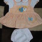 Детское платье с трусиками на подгузник от 3 до 6 мес.