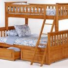 Кровать Жасмин + 2 ортопедических матраса