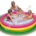 Детский надувной бассейн радуга 57412 (надувное дно) 114*25 см