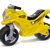 Музыкальный мотоцикл желтый Орион 501 каталка байк