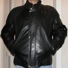 мужская курточка деми из натуральной кожи