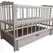 Детские кроватки кроватка Еко-3 шарнир, маятник Новые, со склада, 680 грн.