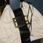 сумка черно-белая, оригинальный дизайн, хороший размер