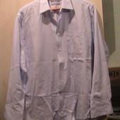 рубашка голубая L-XL как новая