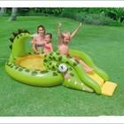 Детский надувной бассейн «Крокодил»с горкой