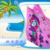 Полотенце-пончо скапюшоном в бассейн, на пляж Турция не выстирывается!
