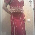 Эксклюзивный индийский костюм - кофта и длинная юбка плюс шаль, ручная вышивка! Новый. ТОРГ