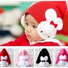 """в наличии новая демисезонная двойная детская шапка """"Зайка"""" красная"""