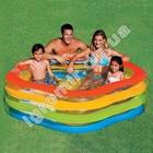 Семейный надувной бассейн Краски лета Intex 56495 185х180х53 см надувное дно