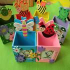 Яркие веселые коробочки-подставки для ручек