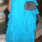 Шикарная длинная юбка в пол , коттон (хлопок) небесно - голубая