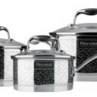 Набор посуды серии Rondell Vintage, кастрюли,ковш,сотейник, столовые приборы на 6 персон. Качество!