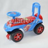 Детская машинка каталка Автоша звук синий