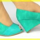 Красивые яркие зеленые туфельки! GREEN PREMIERE CUIR