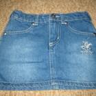 джинсовая мини юбка на 4-5лет