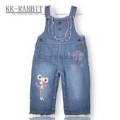 Утепленный джинсовый комбинезон kk-rabbit