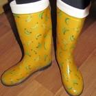 Резиновые сапоги женские Бананы. Наложка
