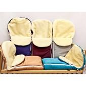 Конверт на овчине зимний для малышей в коляску, санки