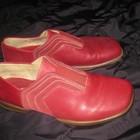 комфортные туфли Ecco бордовые, стелька=24 см, кожа!