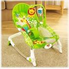 Детское массажное кресло-качалка, шезлонг Fisher Price Львенок с рождения до 4 лет