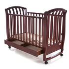 Кроватка деревянная Baby Care BC-800BC темный орех ламель R