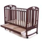 Кроватка деревянная Baby Care BC-435M темный орех ламель R