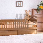 Кровать Карина один ярус + перегородки + ящики