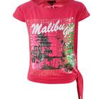 Футболка для девочек «Soul & Glory» (Англия), (детская, подростковая) «Малибу», розовая