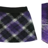Теплая зимняя мини юбка юбочка для девочки